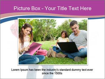 Female student PowerPoint Template - Slide 16