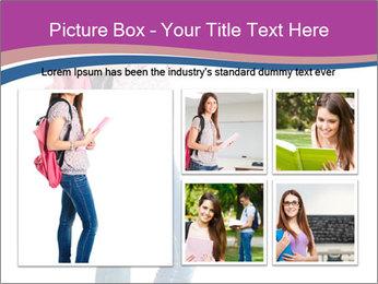 Female student PowerPoint Template - Slide 19