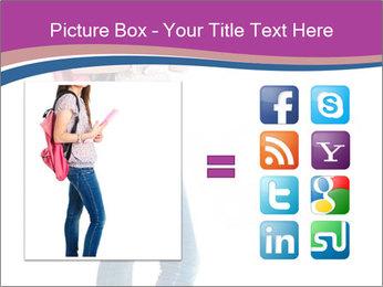 Female student PowerPoint Template - Slide 21