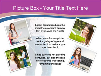Female student PowerPoint Template - Slide 24