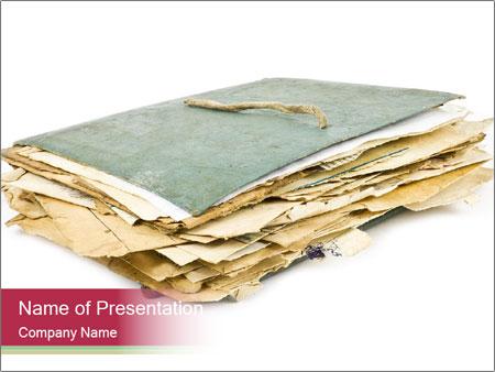 Old folder PowerPoint Template