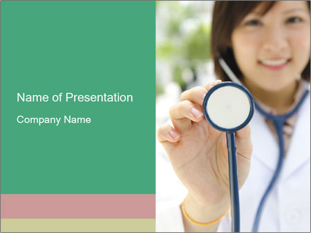 Asian medical student PowerPoint Template