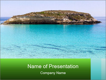 Crystalline water PowerPoint Templates - Slide 1