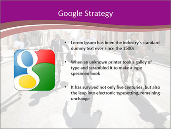 Businesspeople running in city PowerPoint Template - Slide 10
