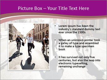 Businesspeople running in city PowerPoint Template - Slide 13