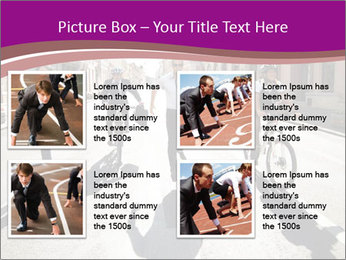 Businesspeople running in city PowerPoint Template - Slide 14