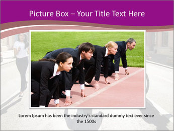 Businesspeople running in city PowerPoint Template - Slide 15