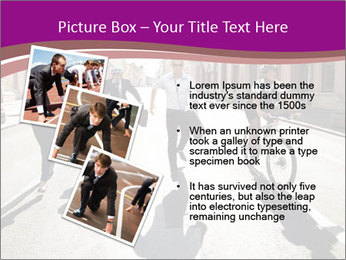 Businesspeople running in city PowerPoint Template - Slide 17