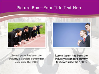 Businesspeople running in city PowerPoint Template - Slide 18