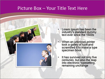 Businesspeople running in city PowerPoint Template - Slide 20