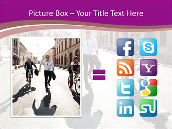Businesspeople running in city PowerPoint Template - Slide 21