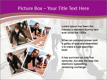 Businesspeople running in city PowerPoint Template - Slide 23
