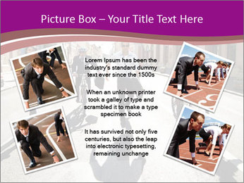 Businesspeople running in city PowerPoint Template - Slide 24