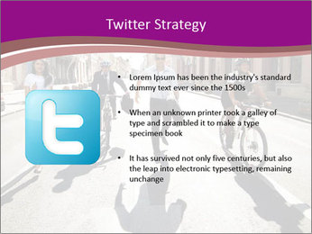 Businesspeople running in city PowerPoint Template - Slide 9