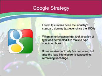 Cheering crowd PowerPoint Template - Slide 10