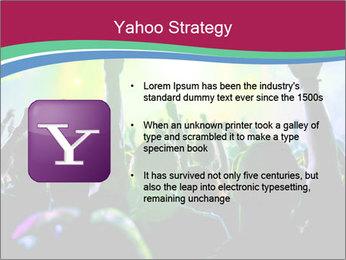 Cheering crowd PowerPoint Template - Slide 11