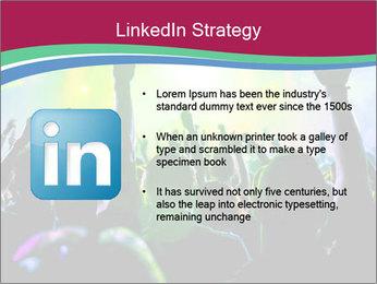 Cheering crowd PowerPoint Template - Slide 12