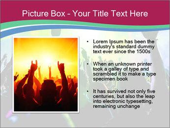 Cheering crowd PowerPoint Template - Slide 13