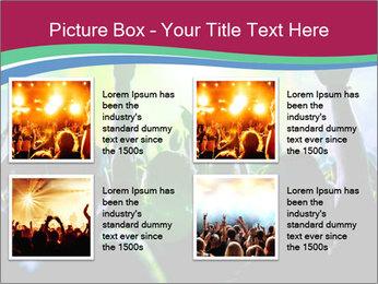 Cheering crowd PowerPoint Template - Slide 14