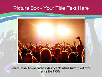 Cheering crowd PowerPoint Template - Slide 15