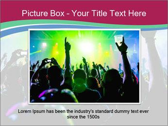 Cheering crowd PowerPoint Template - Slide 16