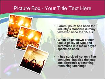 Cheering crowd PowerPoint Template - Slide 17