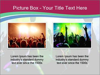 Cheering crowd PowerPoint Template - Slide 18