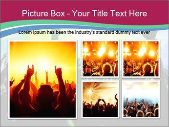 Cheering crowd PowerPoint Template - Slide 19