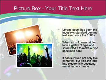 Cheering crowd PowerPoint Template - Slide 20