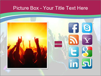 Cheering crowd PowerPoint Template - Slide 21
