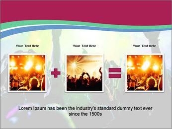 Cheering crowd PowerPoint Template - Slide 22