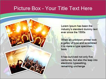 Cheering crowd PowerPoint Template - Slide 23