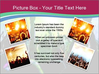 Cheering crowd PowerPoint Template - Slide 24