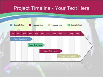 Cheering crowd PowerPoint Template - Slide 25