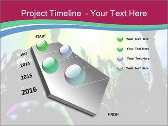 Cheering crowd PowerPoint Template - Slide 26