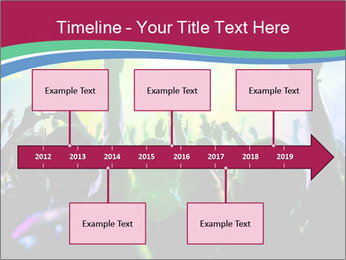 Cheering crowd PowerPoint Template - Slide 28