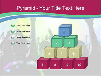 Cheering crowd PowerPoint Template - Slide 31