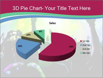 Cheering crowd PowerPoint Template - Slide 35