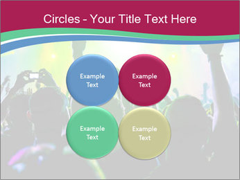 Cheering crowd PowerPoint Template - Slide 38