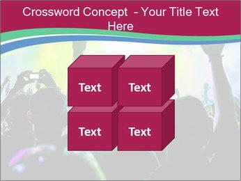 Cheering crowd PowerPoint Template - Slide 39