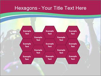 Cheering crowd PowerPoint Template - Slide 44