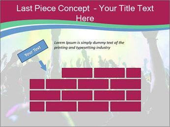 Cheering crowd PowerPoint Template - Slide 46