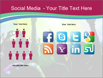 Cheering crowd PowerPoint Template - Slide 5