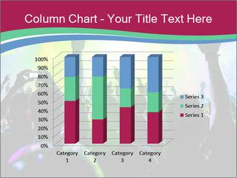 Cheering crowd PowerPoint Template - Slide 50
