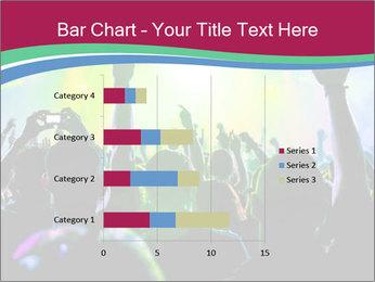 Cheering crowd PowerPoint Template - Slide 52
