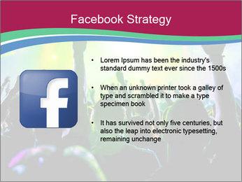 Cheering crowd PowerPoint Template - Slide 6
