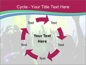 Cheering crowd PowerPoint Template - Slide 62