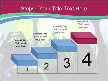 Cheering crowd PowerPoint Template - Slide 64