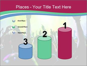 Cheering crowd PowerPoint Template - Slide 65