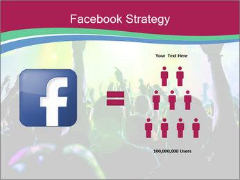 Cheering crowd PowerPoint Template - Slide 7
